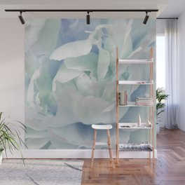 Peony in Blue White Wall Mural