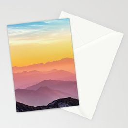 MOUNTAINS - LANDSCAPE - PHOTOGRAPHY - RAINBOW Stationery Cards