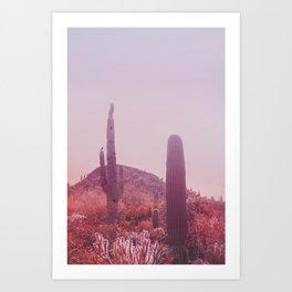 Infrared Desert Landscape Art Print