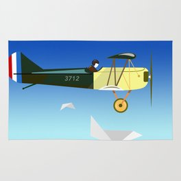Curtiss Jenny JN 4D pioneer of flight Ameli Lost poster vintage aircraft sky and clouds air picture Rug