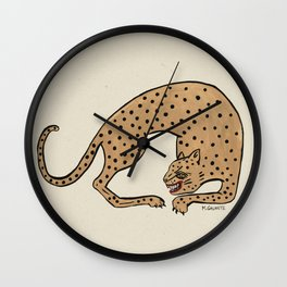 Cheetah Wall Clock