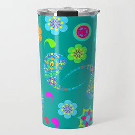 Green Paisley № 5 Travel Mug
