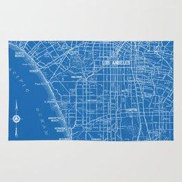 Los Angeles Street Map Rug