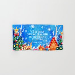 I will honour christmas in my heart Hand & Bath Towel