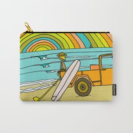 Retro Surf Days Single Fin Pick Up Truck Carry-All Pouch