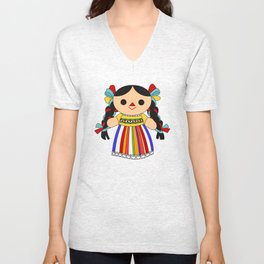 Maria 2 (Mexican Doll) Unisex V-Neck