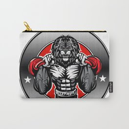 Illustration of a lion fighter Carry-All Pouch