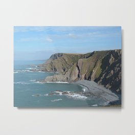 MORWENSTOW CLIFFS FROM HIGHER SHARPNOSE POINT CORNWALL Metal Print