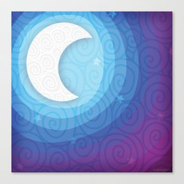 Good Night // Night Time Moon Canvas Print