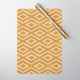 Stitch Diamond Tribal in Gold Wrapping Paper