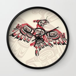 Salish Thunderbird Wall Clock