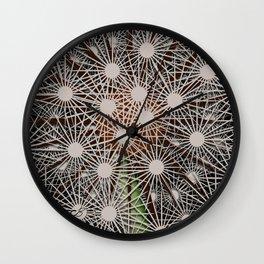 Abstract Dandilion Seeds Wall Clock
