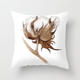 Cotton Flower 03 Throw Pillow