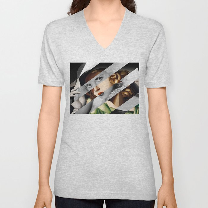 Tamara De Lempicka & Bette Davis Unisex V-Neck