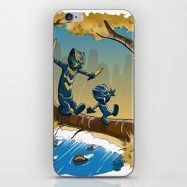 Black Panther And Golden Jaguar iPhone Skin