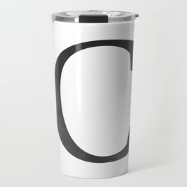 Letter C Initial Monogram Black and White Travel Mug