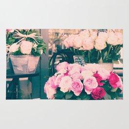Paris flower market Rug