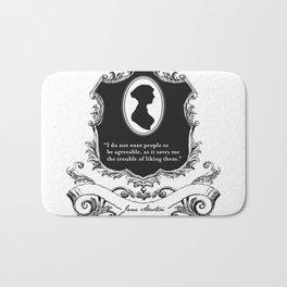 Jane Austen Snarky Quote Bath Mat
