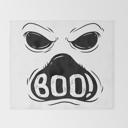 GHOST BOO Throw Blanket