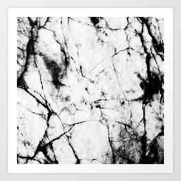 Marble Concrete Stone Texture Pattern Effect Dark Grain Art Print