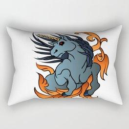 unicorn old school tattoo. Rectangular Pillow