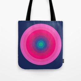 Blue/Pink Bullseye Tote Bag