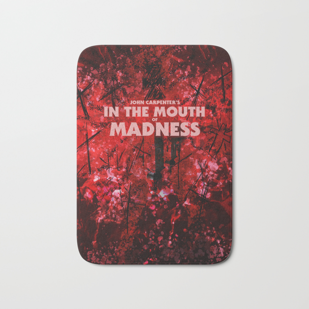 In The Mouth Of Madness Bath Mat by Drwdesign BMT9048718