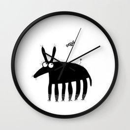 Buff and a fly Wall Clock