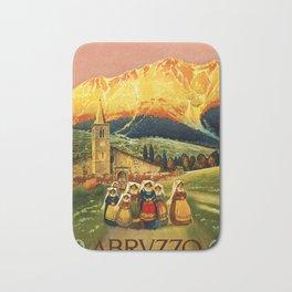 Vintage Abruzzo Italy Travel Bath Mat