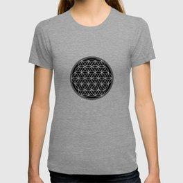 Flower of life on black T-shirt