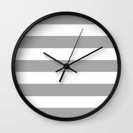 Quick Silver -  solid color - white stripes pattern Wall Clock