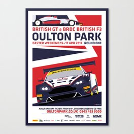 British GT and BRDC British F3, Oulton Park 2017 Canvas Print