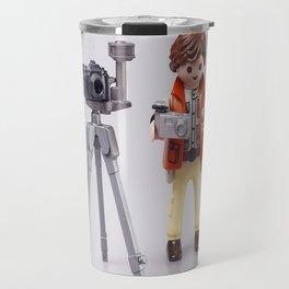 Photographer man. Playmobil Travel Mug