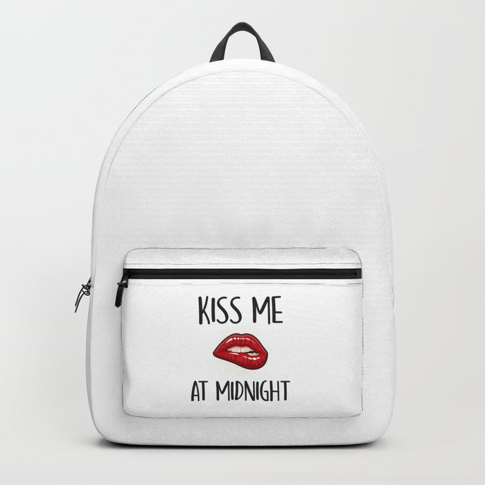 Kiss Me At Midnight, Quote Backpack