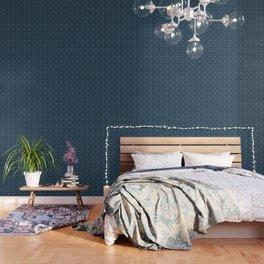 Blue & White Christmas Snowflakes Wallpaper