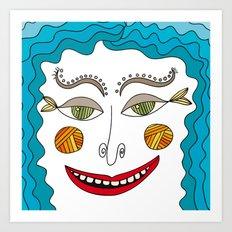 ocean dude Art Print