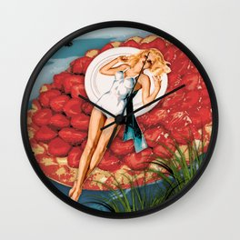 "Pin-Up ""Miss Dollop"" Wall Clock"