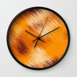 brown orange and dark brown abstract background Wall Clock