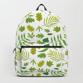 Hojas verdes Backpack
