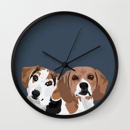 Lucy and Rocco Wall Clock