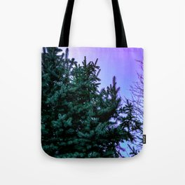 Purple Pine Tote Bag