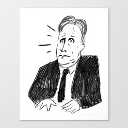 Jon Stewart of the Daily Show Canvas Print
