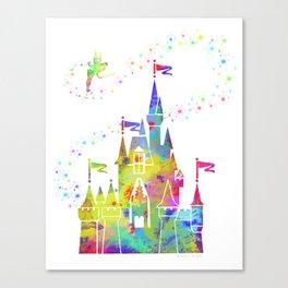 Castle of Magic Kingdom Canvas Print