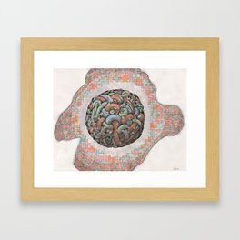 The Tangle, or mushrooms in the blueberry patch Framed Art Print