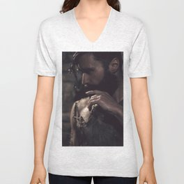 in darkness, there is light Unisex V-Neck