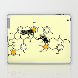 Bees making honey on macromolecular structure as a bee house  Laptop & iPad Skin