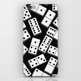 Black and white domino seamless pattern iPhone Skin