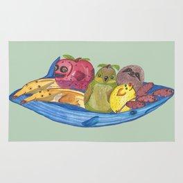 Fruit Bowl Animals Rug