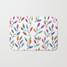 Leafy Twigs - Multicolored Bath Mat