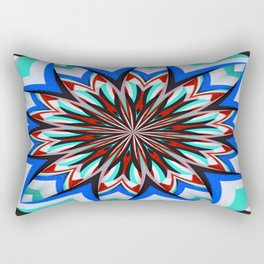 Iznik Style Red Turkish Tulips Kaleidoscope Rectangular Pillow